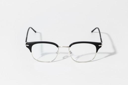 Occhiale da vista Epos in celluloide colore nero e metallo argento. Occhiale serie Leggenda. Misure 49□19 asta 145