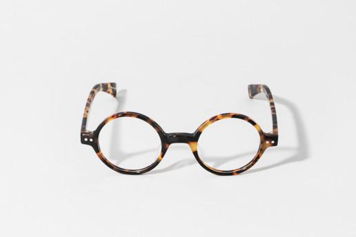 Occhiale totally round in celluloide Epos colore tartaruga codice TR. Misure 43□24 140