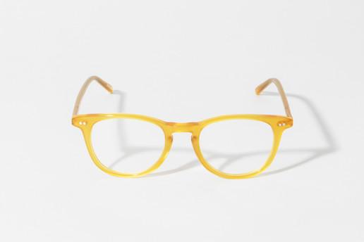 Occhiale in celluloide Epos colore giallo miele. Misure 49□21 asta 150