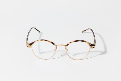 Occhiale da vista Epos in celluloide tartarugata e metallo color oro satinato. Occhiale ultra leggero. Collezione Leggenda. Misure 48□19 asta 145