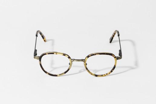 Occhiale da vista Epos in celluloide TH e metallo oro anticato. Occhiale collezione Leggenda. Misure 46□22 asta 145